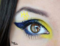 Sailor Uranus inspired make up by http://sweet-cheek.blogspot.co.at/2013/03/make-up-dreamz-sailor-uranus-runde-8.html