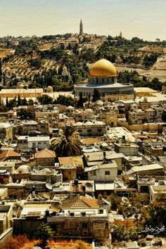 Jerusalem, The Capital City of Palestine Palestine History, Israel Palestine, Places To Travel, Places To Go, Dome Of The Rock, Islamic Architecture, Holy Land, Wonders Of The World, Taj Mahal