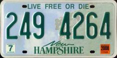 NH license plates (print)
