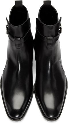 Saint laurent - black leather hedi boots fashion for him in 2019 мужской ст Mens Shoes Boots, Mens Boots Fashion, Shoe Boots, Ankle Boots, Black Leather Boots, Leather Men, Leather Shoes, Dress With Boots, Dress Shoes