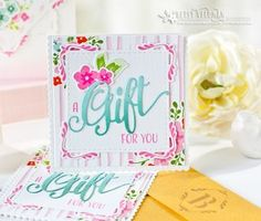 A Gift For You Card by Betsy Veldman for Papertrey Ink (April 2016)