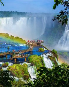 The UNESCO World Heritage Site of Iguazu National Park, where one of the great wonders of nature lies, splits Brazil from Argentina on the Latin American continent. Brazil Vacation, Brazil Travel, Iguazu National Park, National Parks, Places To Travel, Places To See, Travel Destinations, Iguazu Waterfalls, Puerto Iguazu