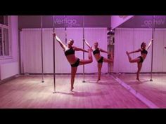 Intermediate Pole Routine #2 for our students - YouTube