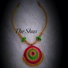 Metal Jewellery, Thread Jewellery, Jewelery, Silk Thread Necklace, Silk Thread Bangles, Bead Crafts, Jewelry Crafts, Handmade Jewelry, Kids Jewelry