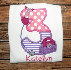 Doc McStuffins Birthday Shirt/ Doc McStuffins/ by MarshallStitches