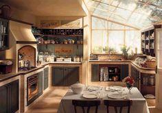 Le cucine in muratura - Una cucina dal sapore artigianale