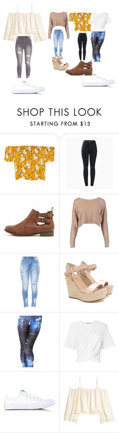 """Untitled #9348"" by lover5sos ❤ liked on Polyvore featuring Boohoo, T By Alexander Wang, Converse and H&M"
