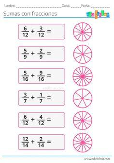 48 Ideas De Fracciones Escuela Fracciones Matematicas Fracciones Fracciones Para Primaria