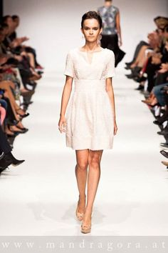 anelia peschev  SS 15 Ss 15, White Dress, Dresses, Fashion, White Dress Outfit, Gowns, Moda, La Mode, Dress