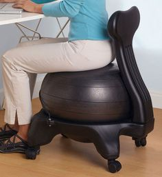 Find balance and strengthen your core with Gaiam's best-selling Balance Ball Chair!  Lots of colors to suit your personality!