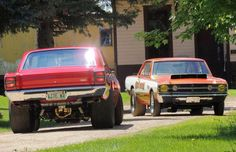 These twin '68 Hemi Darts are setup for the strip!