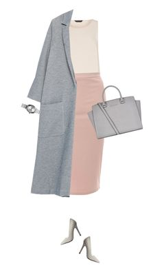 """""""Blush pink and grey for great interview !"""" by azzra ❤ liked on Polyvore featuring Dorothy Perkins, Glamorous, Zara, MICHAEL Michael Kors, Nixon, Charlotte Russe and 60secondstyle"""