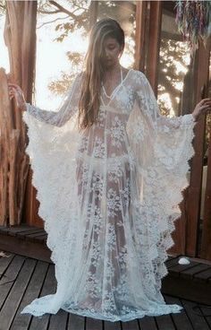 LINGERIE, SOFT LACE CAFTAN DRESS, Wedding Lingerie, plus size beach cover up Stylish yet modestly understated, this sexy lace caftan dress is delightfully multi-functional. Perfect for lazy honeymoon mornings in the sun, this item can be worn as much on your wedding day as it can