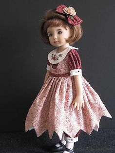 "Green Cranberry OOAK Handmade Set for 13"" Effner Little Darling BJD by JEC 