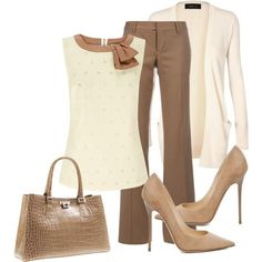 Neutral and brown work fashion attire
