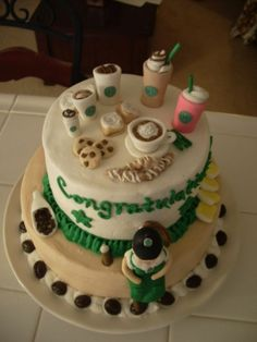 Starbucks cake made by Jeanette Labella Jlabella cakes