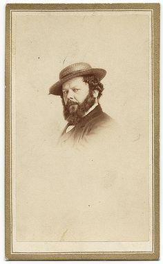 painter Louis Lang wearing my straw hat...