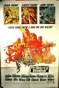 The Dirty Dozen movie - one of my favorite movies about WW II.