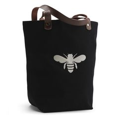 Maison de Kristine - BUCKET BEE TOTE- BLACK, $41.95 (http://www.maisondekristine.com/bucket-bee-tote-black/)