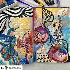 """Gefällt 67 Mal, 4 Kommentare - Gelli Arts® (@gelliarts) auf Instagram: """"Happy Monday!! We're loving this mixed media print!! So pretty!  #gelliarts #GelliPlate…"""""""
