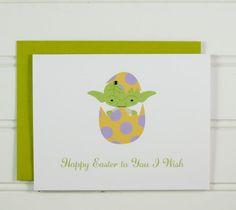 Yoda Easter Card, Star Wars Card, Easter Card for Star Wars Fan, Cute Card for Husband, Wife, Boyfriend, Girlfriend, Niece, Nephew, Funny