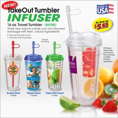 Let 'em flavor their water with fresh fruit, mint leaves, or ??? Made in the USA, with plenty of decoration options!