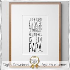 jeder kann ein vater sein, doch nur jemand ganz besonderes ist ein papa - everyone can be a father, but only someone truly special is a papa (extra dosage of stupid) When Your Best Friend, Best Friend Love, Friends In Love, Diy Birthday Gifts For Dad, Birthday Rewards, Holiday Break, Daddy Gifts, Inexpensive Gift, Business Gifts
