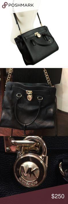 Michael Kors Hamilton Leather satchel Beautiful black leather satchel Michael Kors Bags Satchels