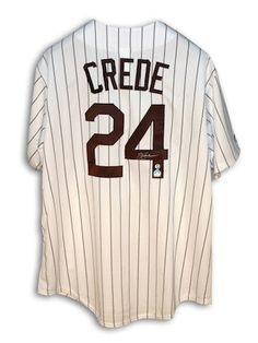 Autographed Joe Crede Chicago White Sox Pinstripe Jersey