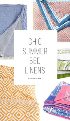 The perfect bedding for your summer bedroom