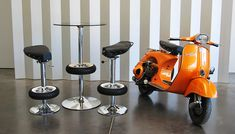 vintage scooters parts #repurposed into bar & stools by Bel&Bel