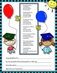 kindergarten graduation poem amp;