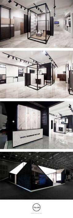 Dongpeng - Stand Cersaie 2017 #design #designdirection #ephemeral #architecture #interiordesign #graphicdesign #stand #interior #design #interiors #exhibition #branding #studio #ceramic #signage #space #cersaie2017