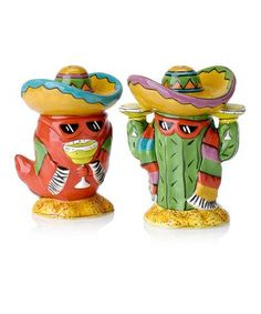 Take a look at this Clay Art Dos Amigos Salt & Pepper Shaker Set by Clay Art on zulily