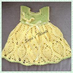 Crochet Baby Spring Dress Crochet Butterfly Dress by SuziesTalents
