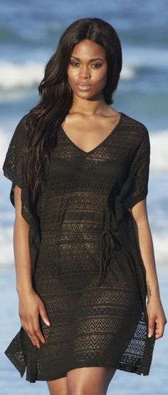 Swimsuit cover up black 2014 - http://www.boomerinas.com/2013/03/02/beach-cover-ups-for-women-plus-size-tunics-dresses-caftans-sarongs/
