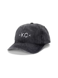 15994d0fca6 The signature xKCx in Black Denim 6 panel unstructured baseball cap
