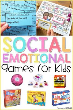 16 social-emotional learning games for kids are great for the classroom or home use. Teach positive social interactions, encourage relationship skills, and practice effective communication. Kids and teachers will enjoy the printable resources, board games, and more that build character and social skills. #socialskills #socialemotional #charactereducation #classroomgames