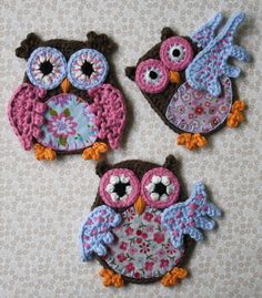 Crochet Tutorials – Applique Owl - Crochet Pattern – a unique product by allescaro on DaWanda