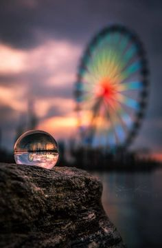 Crystal Ball Photography Ideas & Photo Example - My best makeup list Macro Photography Tips, Glass Photography, Reflection Photography, Color Photography, Creative Photography, Amazing Photography, Landscape Photography, Nature Photography, Travel Photography
