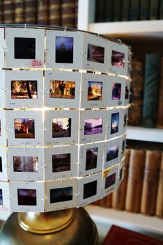 Europe lamp shade 35mm slide lamp shade by lightreading on Etsy, $94.00