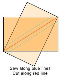 Easy make Half Rectangle Triangles