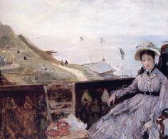 Berthe Morisot : Sur la terrasse (Fécamp) 1874 - huile sur toile 45 x 54 cm - Fuji Art Museum - Tokyo