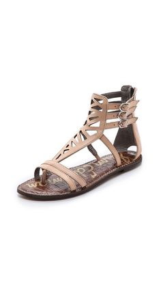 a1cf57d28eecd Sam Edelman Georgia Cutout Flat Sandals Shoes Flats Sandals