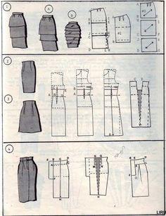 Выкройка для юбки