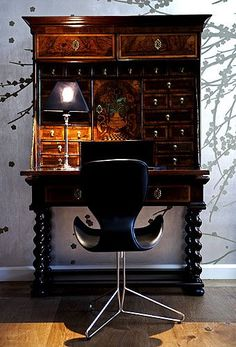 Antique Secretary... beautiful in any contemporary or classic Library !