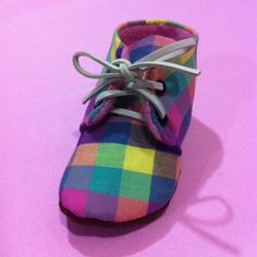 Rainbow Check Oxford shoes