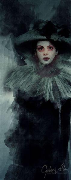 Revenant Shade Paranormal Dark Fantasy Art - Galen Valle - New Media Artist