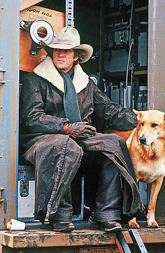 The superstar with his dog Junior, who was part shepherd and part collie. Junior was protective of his owner and was a known biter, but McQueen loved him dearly. Barbara Minty McQueen says Junior perished in the Arizona desert, most likely eaten by a pack of wolves. She said Steve looked for him for days, and that was the only time she witnessed her husband cry.  – By Barbara Minty McQueen –
