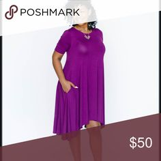 🛍Purple Joplin w/pockets!🛍 Beautiful shade of purple, soft fabric and flattering fit! Did I mention it has pockets!? Brand new with tags, available in multiple sizes. Agnes & Dora Dresses